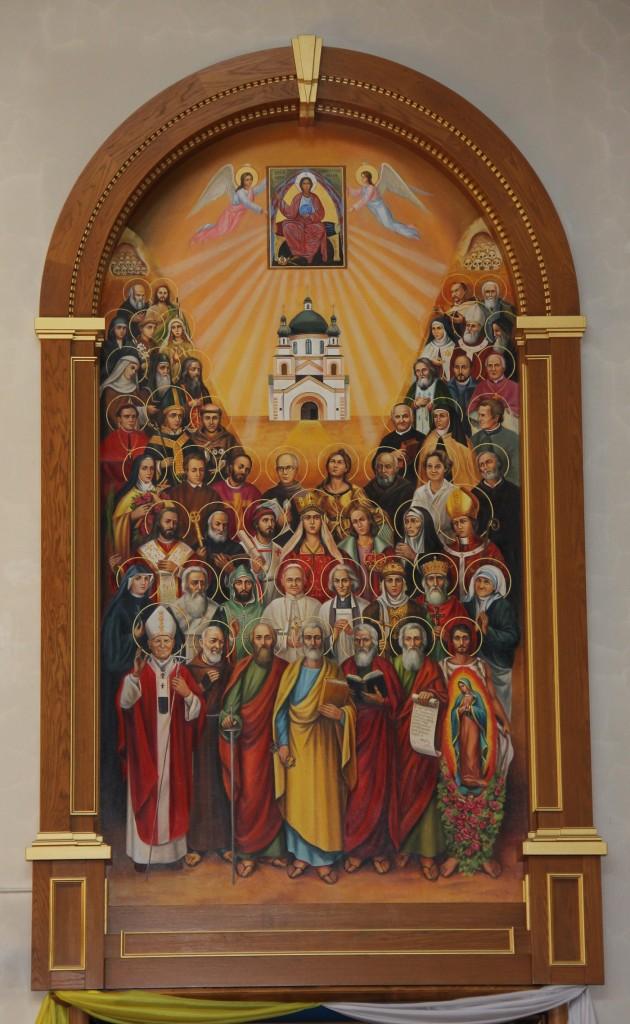 Ікона Всіх Святих в Санктуарії Бога Отця Милосердного